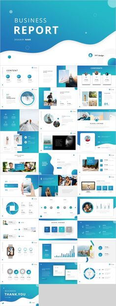 Clean blue business report PPT – The highest quality PowerPo Simple Powerpoint Templates, Powerpoint Tips, Professional Powerpoint Templates, Keynote Template, Powerpoint Presentations, Flyer Template, Business Powerpoint Presentation, Presentation Folder, Presentation Design