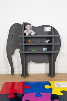 elephant bookshelf ...hmm, I think I could do this with another animal. I wonder how crafty Joseph is...