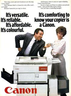 Vintage Canon ad (1980s)