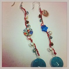 Earrings crochet angeli te