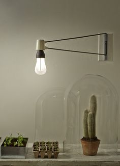 3/5: Yet another way to showcase the Plumen 002 – the bulb looks sublime in this Cord Sconce by Brendan Ravenhill Studio. http://www.brendanravenhill.com/