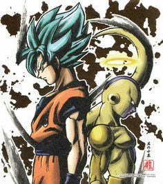 Dragon Ball Super Goku And Freezer Collection Bandai Dragon Ball Z, Dragon Ball Image, Goku Vs Frieza, Super Hero Games, Manga Anime, Manga Dragon, Ball Drawing, Pokemon, Anime Comics