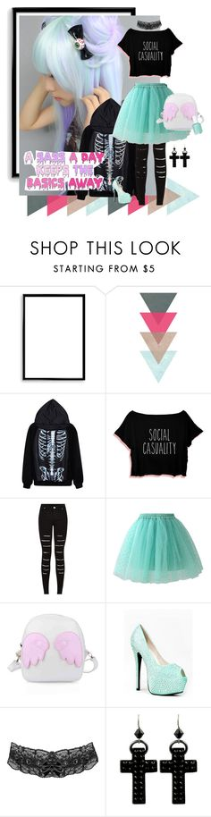 """Pastel Goth Tag"" by kaorikuro ❤ liked on Polyvore featuring мода, Bomedo, Chicwish, Red Kiss, Tarina Tarantino и Essie"