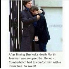 Look at benidicts face<< it looks like sherlock and john not Benedict and Martin.