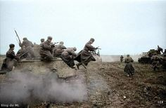 Soviet assault troops on the Eastern Front.