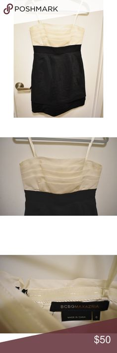 BCBGMaxAzria Cocktail Dress Size 6, perfect for formal or semi-formal event. BCBGMaxAzria Dresses Strapless