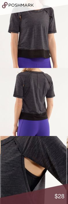 Lululemon Sun Runner Short Sleeve Worn only a couple of times. Great condition lululemon athletica Tops