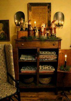 cupboard holding Santas