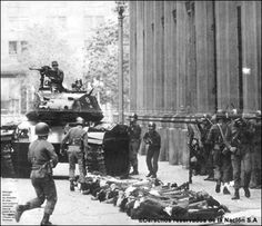 Working Class History - 11 Sep 1973 right-wing Gen Pinochet launched a coup against the elected left-wing government in Chile of Salvador Allende. Backed by the US and UK, Pinochet went on to torture, jail and kill of working class activists Left Wing, Right Wing, Victor Jara, Military Coup, Christian Religions, Political Events, Working Class, World Records, Coups