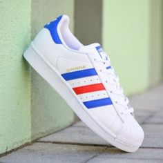 on sale a254d 5199f BB0354Amorshoes-Adidas-Originals-Superstar -J-footwear-white-blue-red-Junior-blanco-azul-rojo-BB0354