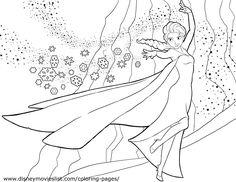 elsa frozen coloring pages | Disney's FrozenElsa Freeze Coloring Page