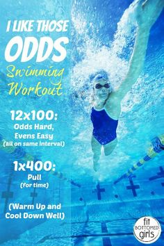 Sprint it out -- in the pool with one of Kristen's fave swim workouts!   Fit Bottomed Girls