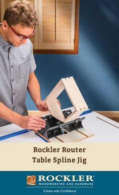 Rockler Router Table Spline Jig - Ideal for use with smaller boxes and frames, making it easy to add a wide variety of strong, beautiful splines to the corners.