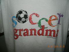 Soccer Grandma T Shirt Large White Coed Sports Soccer ball graphics colorful #CoedSportswear #GraphicTee