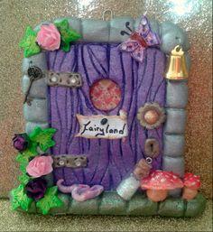 salt dough fairy door - Facebook.com/craftydough