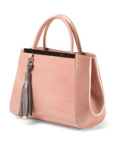 image of Made In Italy Patent Leather Tote