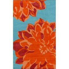 orange turquoise area rugs - Google Search