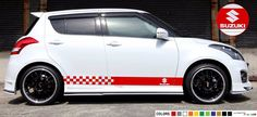 Sticker stripe Kit for Suzuki swift gear racing decals rally spacer flag body  #ultimateprocy1