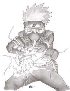 Kakashi - Lightning Blade Naruto Shippuden Sasuke, Naruto Kakashi, Anime Naruto, Fan Art Naruto, Wallpaper Naruto Shippuden, Manga Anime, Boruto, Narusaku, Kakashi Drawing