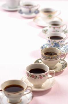 cups and cups of black coffee