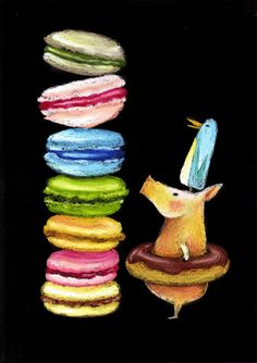 Blackboards, Chalkboard Art, Chalk Board, Food Containers, Macaroons, Art Boards, Draw, Signs, Painting