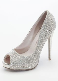 f8e3a38d75 BRIDESMAID SHOES Davids Bridal Glitter mesh platform heels feature  sparkling crystal detail in gold metallic