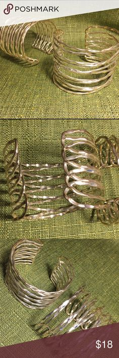 PAIR OF BRACELETS Lovely pair of cuff bracelets! SELLING AS A PAIR! Very narrow arm opening! NO BRAND Jewelry Bracelets