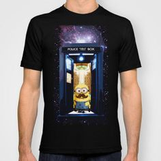 Despicable Me Minions tardis doctor who unisex Tee Tshirt - USA Size Medium