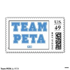Team PETA Postage Stamps