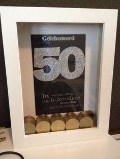 Klasse Geschenkidee Zum 50 Geburtstag 50 Mal 50 Cent In Einen