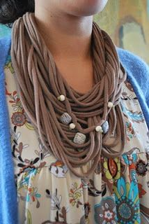 Recycled Fashion: Tshirt scarf necklaces