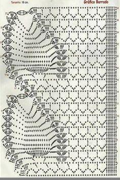 Colorful Crochet Lace Shawl + Diagram