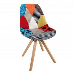 Krzesło Astoria New Patchwork Design Set, Outdoor Chairs, Outdoor Furniture, Outdoor Decor, Patchwork Chair, Style Retro, Textiles, Woody, Decoration