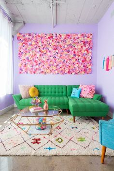 fresh summer living room decor ideas relaxing for your family page 6 Colourful Living Room, Eclectic Living Room, Living Room Decor, Bedroom Decor, Colourful Home, Colorful Apartment, Retro Home Decor, Pastel Home Decor, Pastel Interior
