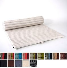Leewadee Roll Up Thai Mattress 79x30x2 inches Kapok Fabric White Premium Double Stitched *** You can find out more details at the link of the image. (Amazon affiliate link)
