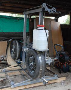 Sierra de banda casera, rodamientos neumáticos DSC_0191