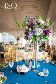 Elevated Centerpieces I Nature of Design with Janet Flowers I Blue Weddings