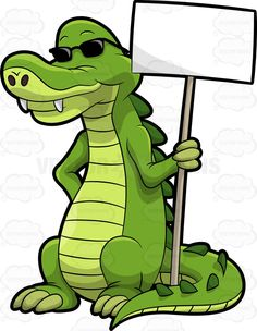 Arthur The Alligator Holding A Signboard Cartoon Jokes, Cartoon Drawings, Pictures To Draw, Cute Pictures, Alligator Party, Inkscape Tutorials, Crocodile Hunter, Royalty Free Clipart, Cute Dragons