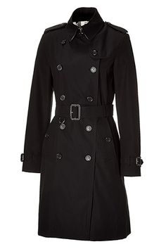 STYLEBOP.com | Jet Black Double-Breasted Kensington Trench Coat by BURBERRY LONDON | the latest trends from the capitals of the world