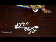 easy freehand rangoli designs for evenings Rangoli Side Designs, Free Hand Rangoli Design, Rangoli Borders, Small Rangoli Design, Colorful Rangoli Designs, Rangoli Ideas, Beautiful Rangoli Designs, Indian Rangoli, Diwali Rangoli