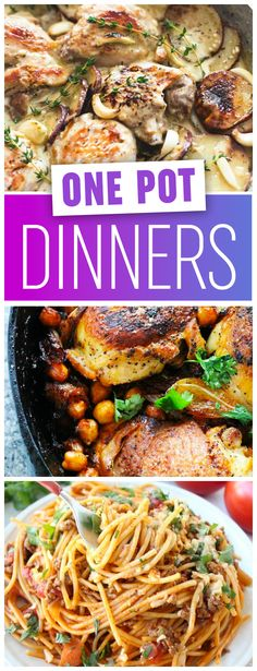 These incredibly delicious and easy one pot dinner recipes are perfect for busy weeknights of anytime. I can't seem to choose a favorite!