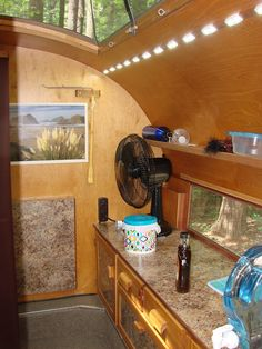 She calls her teardrop trailer home, and has made some handy improvements to the original design.