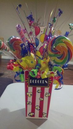 Carnival Themed Centerpiece