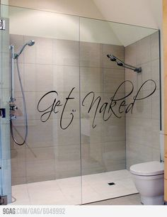 Get Naked! Very usable bathroom for 'round Old Road. Just incorporate a seat of some sort and a lower level shower head and it's golden.
