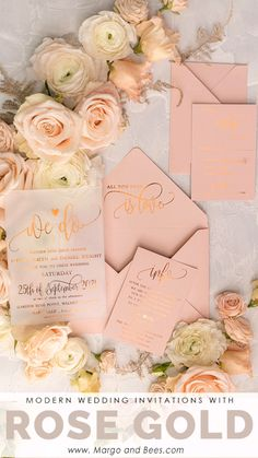 Rose Gold is perfect for modern, glamour weddings Pink wedding inspiration and ideas for the alternative creative bride Personalised Wedding Invitations, Handmade Wedding Invitations, Elegant Wedding Invitations, Wedding Invitation Cards, Wedding Themes, Wedding Stationery, Wedding Cards, Wedding Events, Wedding Day