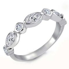 Bling Jewelry Bling Jewelry Bridal Vintage Cz Swing Band Round... ($28) ❤ liked on Polyvore featuring jewelry, rings, clear, bridal jewelry, band rings, band jewelry, glitter rings and cubic zirconia jewelry