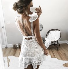 From Casual Mornings To Date Nights, 60 End Of Summer Outfits Boho Fashion, Fashion Outfits, Womens Fashion, Cute Dresses, Short Dresses, Urban Look, Summer Outfits, Casual Outfits, White Outfits