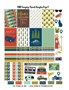 #free #planner #printable #stickers #camping #roadtrip #travel
