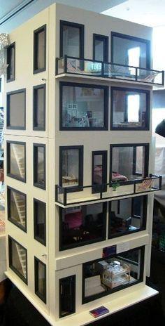 Modern miniature dollhouse.