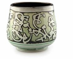 Jim Gottuso from Louisville, Kentucky was a 2013 Ceramics Monthly Emerging Artist. Gottuso created this etched porcelain yunomi in 2012.
